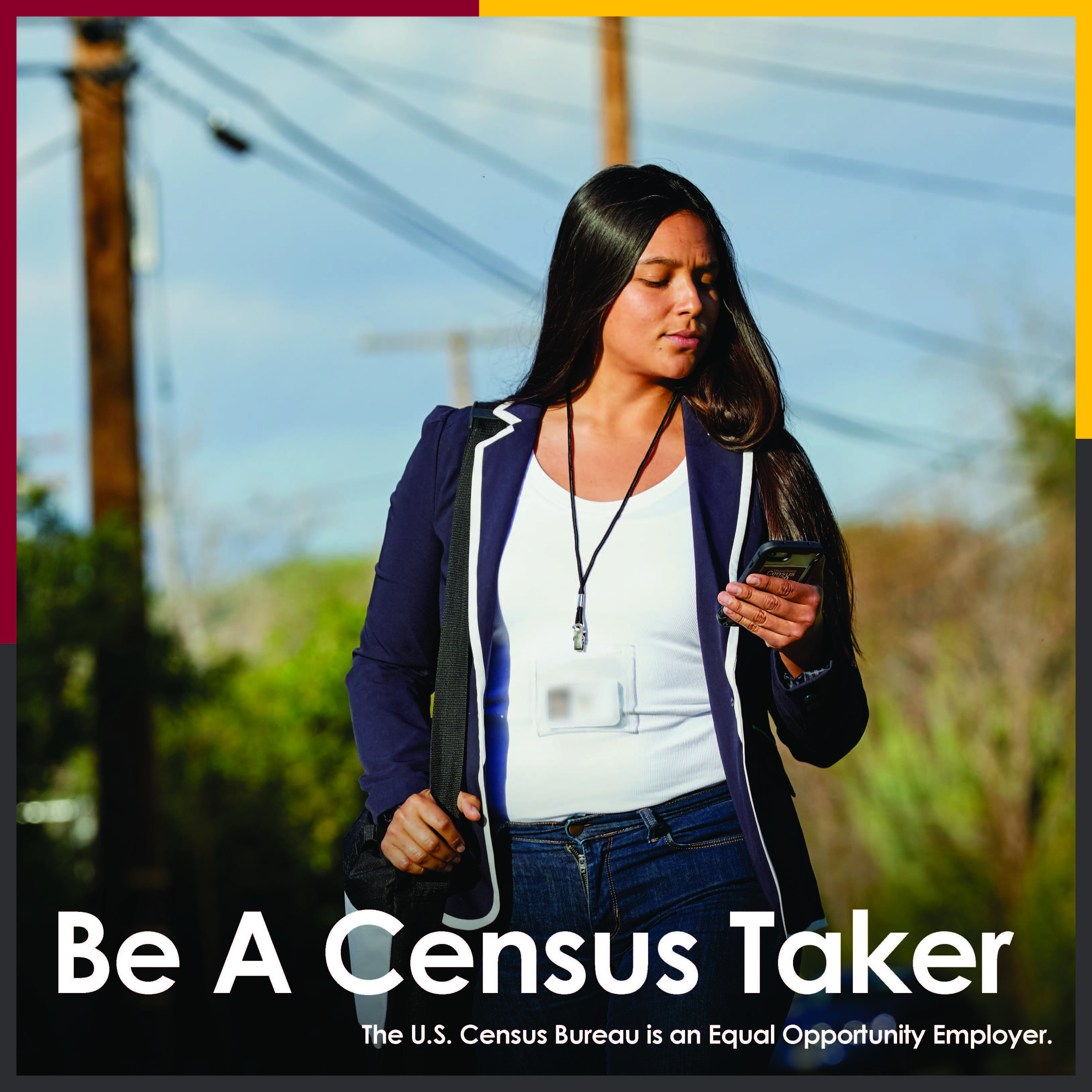 Census taker graphic young
